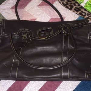 Brown Jcrew large leather purse